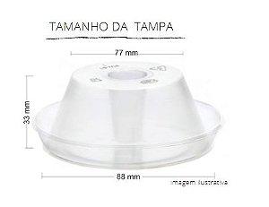 PW61/THW -300 unid -  Pudim 90 ml forneavel com tampa Pet