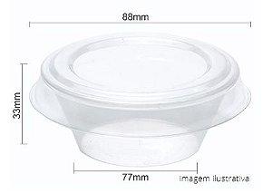 PW62/TWH - 10 unid - Pudim 100 ml forneavel com tampa Pet