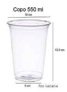 50 unid - Copo pet 550 ml