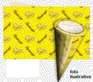 Cone tufado sabor Maracujá- Pct 50 unidades