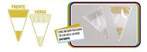 Cone poá ouro amarelo 19 x 30 cm - 2 Pct  com 20 unid cada