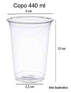 50 unid - Copo pet 440 ml