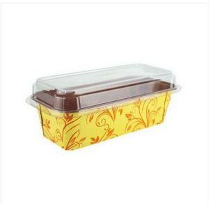 5 unid - Forma cake Italiana Plumpy G Amarelo Com Tampa