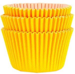 45 unid - Forminha para cupcake amarelo girassol N.0