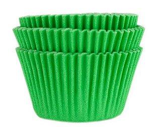 45 unid - Forminha para cupcake verde bandeira N.0
