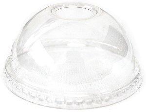 50 unid - Tampa bolha com furo para o copo 400 ml -  550 ml e 770 ml