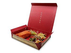 C02 - 100 unid - Embalagem para comida japonesa média