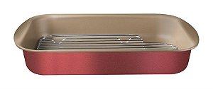 Assadeira com Grelha Tramontina Brasil 40cm Vermelha 20048/740