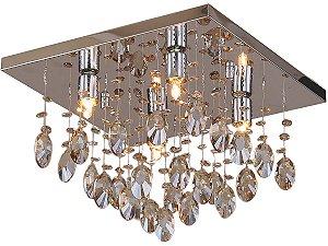 PLAFON PIOGGIA QUADRADO 4 LAMP CHAMPAGNE HEVVY SL94742S