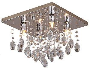 PLAFON PIOGGIA QUADRADO 4 LAMP TRANSPARENTE HEVVY SL-94742S