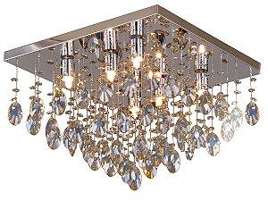 PLAFON PIOGGIA QUADRADO 6 LAMP CHAMPANHE HEVVY SL-94742L/C6