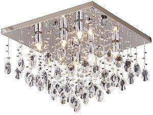 PLAFON PIOGGIA QUADRADO 6 LAMP TRANSPARENTE HEVVY SL94742L