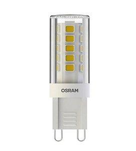 Lâmpada LED PIN OSRAM 3W 300 lúmens (substitui 28W) - Luz amarela 2700K - 127V - Base G9 - 7014580