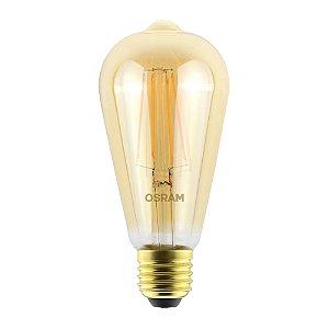 Lâmpada LED Vintage Edson OSRAM 4.5W 420 lúmens (substitui 36W) - Luz amarela 2500K - Bivolt - Base E27 - 7014556