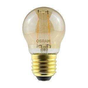 Lâmpada LED Vintage Bolinha OSRAM 2.5W 220 lúmens (substitui 22W) - Luz amarela 2500K - Bivolt - Base E27 - 7014553