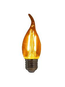 Lâmpada de Filamento LED Vela Chama 2W base Bivolt E27 LFC35-2W-E14-110V