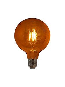 Lâmpada de Filamento LED G125 Squirrel Cage 4W 110V Dimerizável LG125-SC-4W-220V-D