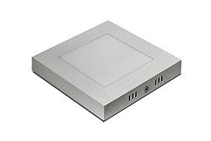 LUMINARIA PLAFON LED 6W 6500K SOBREPORBRANCA QUAD 120X120MM BIVOLT CONCEPT BLISTER 2862