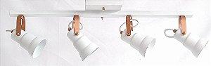 Luminária SPOT TRILHO/4 BCO/COBRE REF:2714/.004