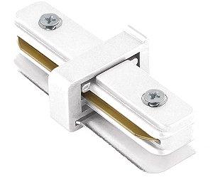 """Conexão """"I"""" para Trilho de Sobrepor - Branco REF: SD1043BR"""