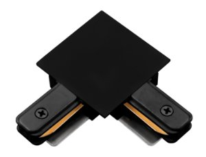 """Conexão """"L"""" para Trilho de Embutir - Preto REF: SD1206PTO"""
