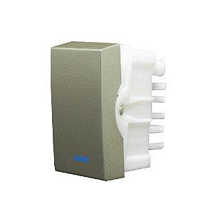 Interruptor SIMPLES LUZ 10A 250V INOVA PRO CLASS CHAMPAGNE REF: 85403