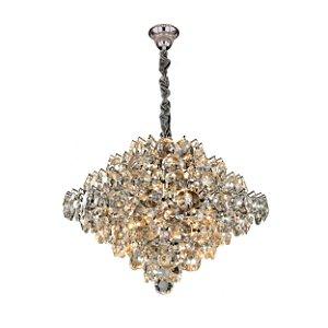 LUSTRE LINHA DIAMOND TRANSPARENTE DE 09 LAMP SL-5691S/H9 TR