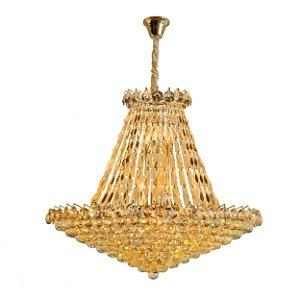 LUSTRE LINHA SHINE DOURADO + CHAMPAGNE DE 17 LAMP SL-5692L/H