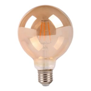 LAMP GOLD GLASS FILAM G125  4W 2200K  E27 BIV