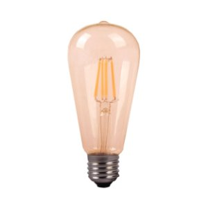 LAMP GOLD GLASS FILAM ST64  4W 2200K  E27 BIV