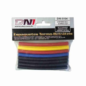 ESPAGUETE TERMO-RETRATIL 4MM CONTRACAO 2:1 - KIT 10 PCS REF: 5104