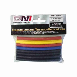 ESPAGUETE TERMO-RETRATIL 6MM CONTRACAO 2:1 - KIT 10 PCS REF: 5106