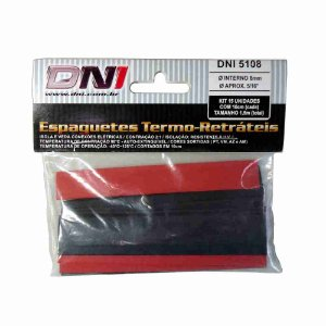 ESPAGUETE TERMO-RETRATIL 8MM CONTRACAO 2:1 - KIT 10 PCS REF: 5108
