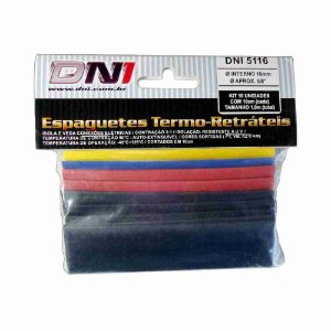 ESPAGUETE TERMO-RETRATIL 16MM CONTRACAO 2:1 - KIT 10 PCS REF: 5116