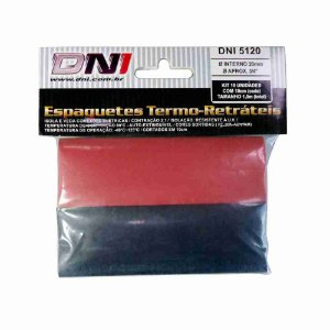 ESPAGUETE TERMO-RETRATIL 20MM CONTRACAO 2:1 - KIT 10 PCS REF: 5120