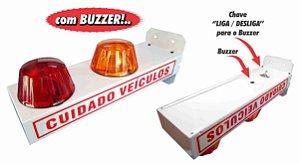 SINALIZADOR DE GARAGEM C/ LEDS E BIP SONORO BIVOLT - 127/ 220V REF: 6973