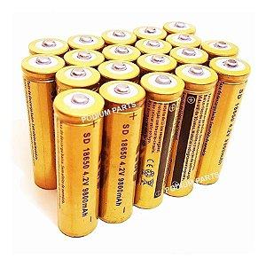 Kit com 50 Baterias 18650 4,2v Recarregável