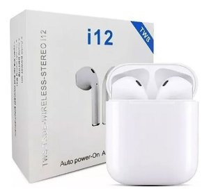 Fone De Ouvido Bluetooth 5.0 i12 Touch AirPods iPhone Android