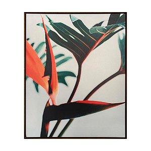 Quadro em Canvas - Flor Verde com Laranja