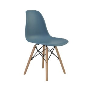Cadeira Eames Eiffel Rivatti Verde Petroleo