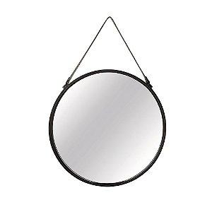 11730 - Espelho Preto Em Metal