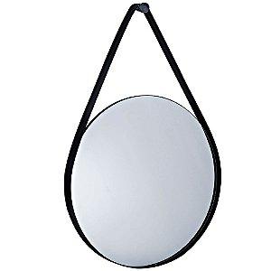 Espelho Preto Em Metal 9397