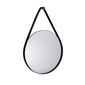 Espelho Preto Em Metal 9396