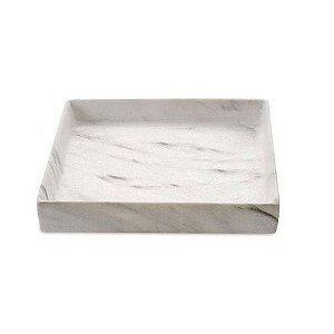 Bandeja Quadrada Marmore Em Ceramica 08716