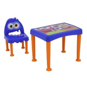 Conjunto Infantil Tramontina Monster em Polipropileno Azul