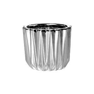 Cachepot Prata Em Ceramica 08637
