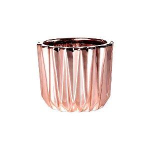 Cachepot Rose Gold Em Ceramica 08638