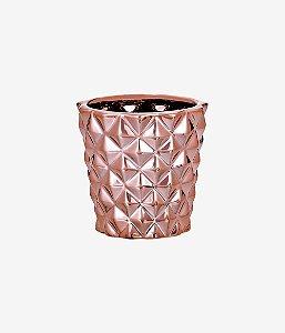 Cachepot Rose Gold Em Ceramica 08641