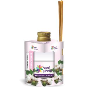 Difusor De Ambientes Tropical Aromas 250ml Flor De Algodão