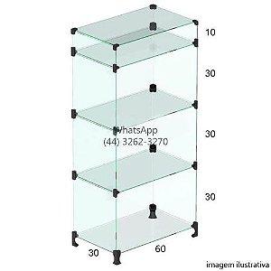 Balcão de Vidro Caixa Gaveta 1,10 x 0,60